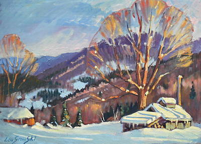 Distant Mountains Painting - Clarks Sugar House by Len Stomski