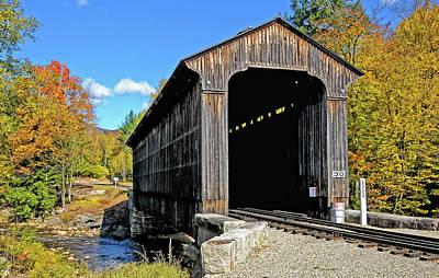 Photograph - Clark's Trading Post Railroad Covered Bridge by Liz Mackney