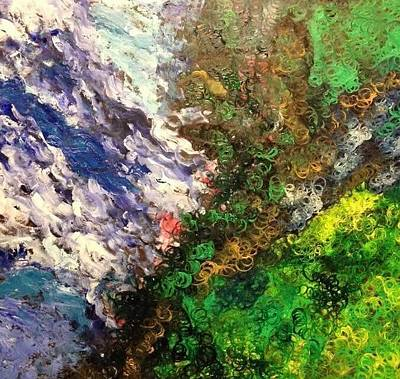 Painting - Clash Of The Titans by Samimah Houston