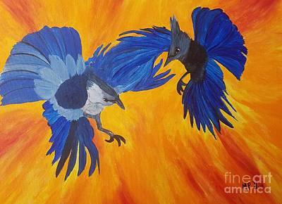 Painting - Clash Of Wings by Maria Urso
