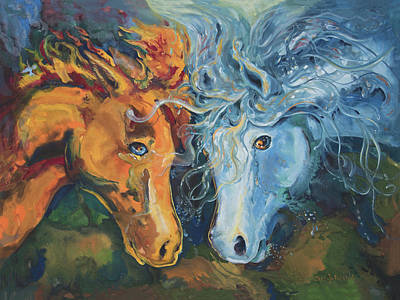 Painting - Clash by Sheri Jo Posselt