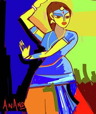 Digital Art - Classicaldancer-3 by Anand Swaroop Manchiraju
