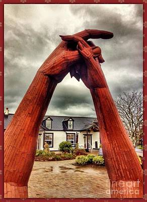 Photograph - Clasped Hands At Gretna Green by Joan-Violet Stretch