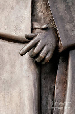 Photograph - Clasped Hands - Sculpture Garden Nola by Kathleen K Parker