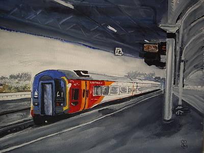Class 159 Bristol Temple Meads Art Print by Carole Robins