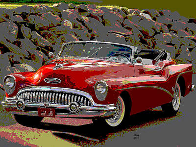 Class Buick Convertible Art Print by Charles Shoup