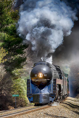 Photograph - Class J 611 Steam Engine At Ridgecrest by John Haldane