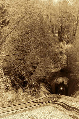 Photograph - Class J 611 Steam Engine In The Tunnel by John Haldane