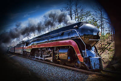 Photograph - Class J 611 Steam Engine Profile by John Haldane