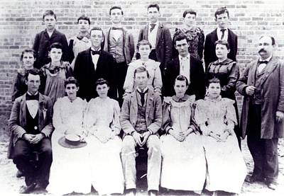 Photograph - Class Of 1894 Bw by Jeanne May