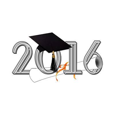 Diploma Digital Art - Class Of 2016 by Gravityx9  Designs