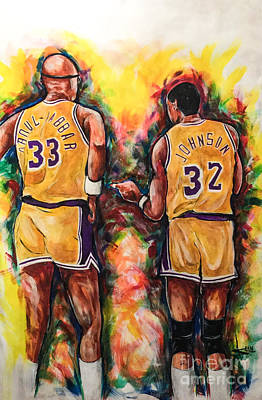 Magic Johnson Painting - Classic 100 by Artist Ahmed Salam