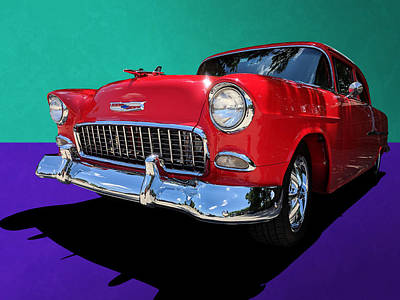 Photograph - Classic 1950s Red Chevrolet Coupe by Debi Dalio
