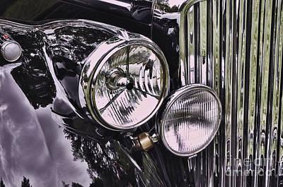 Photograph - Classic 1951 Jaguar Mark V 2 by Allen Beatty
