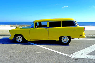 Photograph - Classic 1955 Chevy Station Wagon by Rebecca Korpita