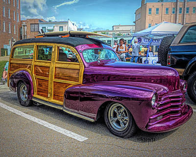 Digital Art - Classic 48 Chevy Woodie by Rebecca Korpita
