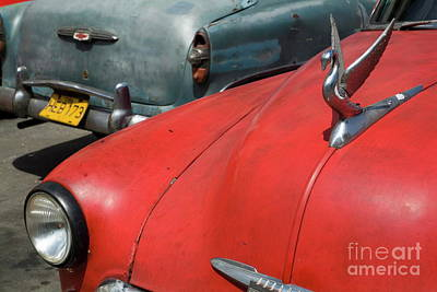 Classic American Cars Parked In The Streets Of Havana Art Print by Sami Sarkis
