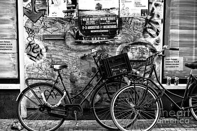 Photograph - Classic Amsterdam Mono by John Rizzuto