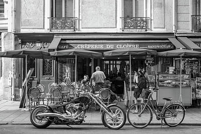 Creperie Photograph - Classic And Modern Juxtaposed by Peter Handy