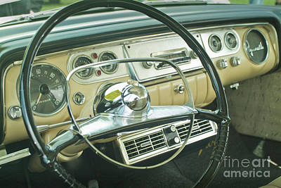 Photograph - Classic Antique Plymouth Dashboard by David Zanzinger