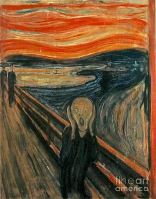 Edvard Munch Digital Art - Classic Art - The Scream  - Edvard Munch by Pod Artist