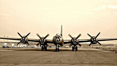 Photograph - Classic B-29 Bomber Aircraft by Amy McDaniel
