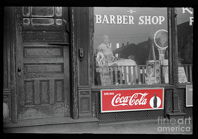 Photograph - Classic Barber Shop Series 2 Bw - Remastered by Carlos Diaz