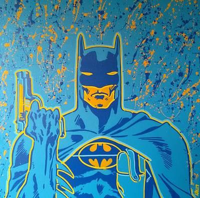 Batman Stencils Painting - Classic Batman by Leon Keay