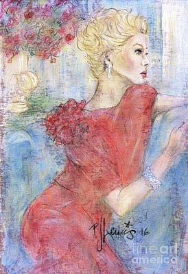 Textured Drawing - Classic Beauty by P J Lewis