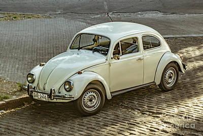 Classic Beetle Car Parked On Street Art Print by Daniel Ferreira-Leites