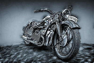 Machine Photograph - Classic Bike by Joachim G Pinkawa