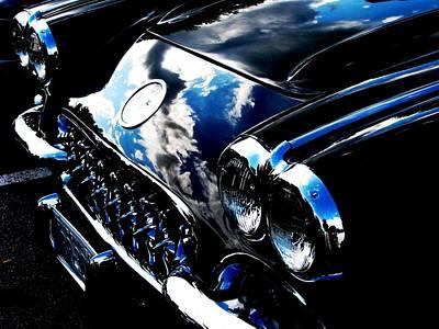 Photograph - Classic Black Corvette by Angela Davies