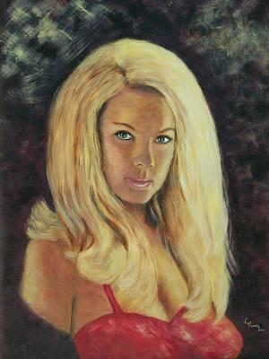 Linda King Painting - Classic Blond  by Linda King