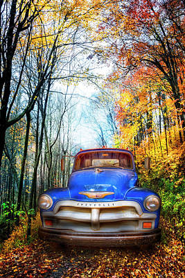 Photograph - Classic Blue Chevy Truck by Debra and Dave Vanderlaan
