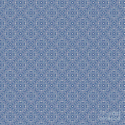 Digital Art - Classic Blue Spring Design by Clare Bambers
