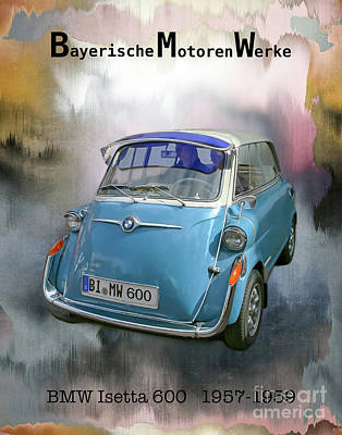 Mixed Media - Classic Bmw 600 by Gabriele Pomykaj