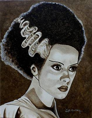 Painting - Classic Bride Of Frankenstein by Al  Molina