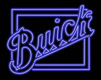 Digital Art - Classic Buick Neon Sign by Ricky Barnard