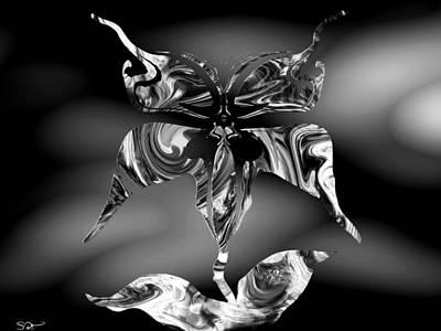 Faith Hope And Love Digital Art - Classic Butterflower by Abstract Angel Artist Stephen K