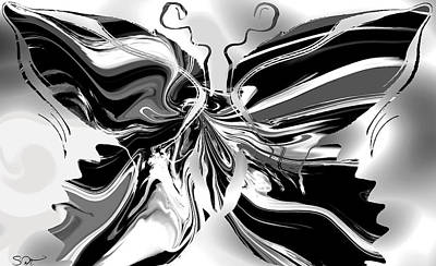 Butterfly Digital Art - Classic Butterfly by Abstract Angel Artist Stephen K