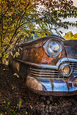 Abandoned Cabins Smoky Mountains Wall Art - Photograph - Classic Cadillac II by Debra and Dave Vanderlaan
