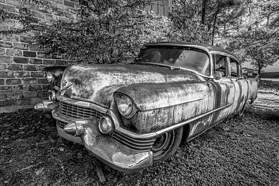 Photograph - Classic Cadillac In Black And White by Debra and Dave Vanderlaan