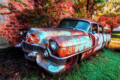 Photograph - Classic Cadillac In Color by Debra and Dave Vanderlaan