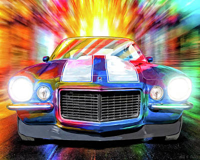 Mixed Media - Classic Camaro Nights by Mark Tisdale
