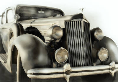 Photograph - Classic Car 1937 Packard  by Ann Powell