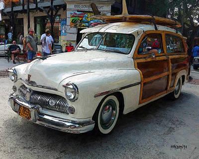 Photograph - Classic Car 1949 Mercury Woody Station Wagon by Rebecca Korpita