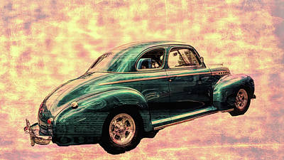 Digital Art - Classic Car  by Cathy Anderson