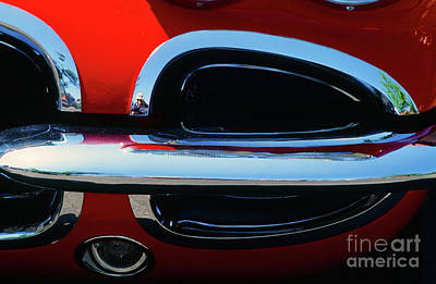 Photograph - Classic Car Chrome Abstract Chevy Corvette by Rick Bures