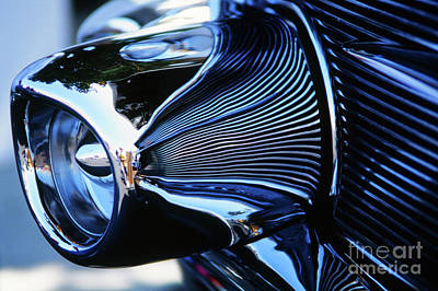Photograph - Classic Car Chrome Abstract Reflected Grill by Rick Bures