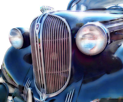 Photograph - Classic Car Grill 1938 Plymouth by Ann Powell